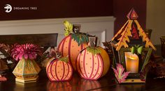 Autumn Decor SVG Bundle from Dreaming Tree. What a great bundle for Fall. These lanterns light up!