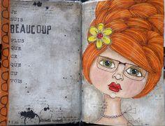 Art journal.   Facecinating girls