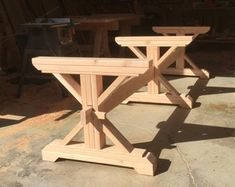 Pallet Table Plans Farmhouse Trestle Table DIY Kit made to order Trestle Table, Wood Table, Dining Room Table, Table Diy, Diy Farmhouse Table, Farmhouse Style, Vintage Doors, Diy Bench, Wooden Pegs