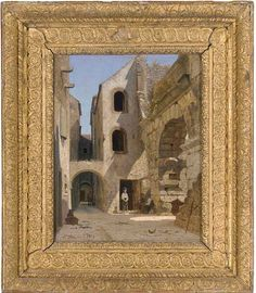 At the Ruins of the Dioclesian Palazzo, Spelato by Peter Kornbeck (Danish, 1837-1894)