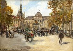 "Georges Stein - Galerie Ary Jan www.galeriearyjan.com1688 × 1200Buscar por imagen ""Market flowers in front of the conciergerie"" george goodwin kilburne artist - Buscar con Google"