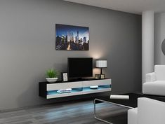 Modern Living Room Design Ideas With Concept Muebles 80 Inch Seattle High Gloss LED TV Stand – White & Black – TV Console for modern homes. Modern TV stand model with click-open drop down doors. Flat Tv Stands, Flat Screen Tv Stand, White Tv Stands, Cool Tv Stands, Wall Mount Tv Stand, Led Tv Stand, Tv Console Modern, Modern Tv Wall Units, Console Tv