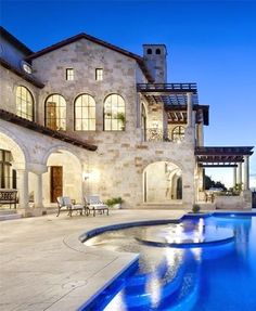 tuscan home  ༺༻ Create an Exceptional Decorating Level with Beautiful #Bathroom, Living Rooms, #Pools, #Kitchens and more.  IrvineHomeBlog.com