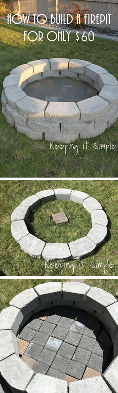 Check out how to build a simple DIY fire pit for your backyard @istandarddesign