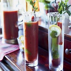 Black pepper, Tabasco and fresh chile give this delicious Bloody Mary variation a fiery kick.