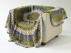 Washed Ashore Afghan.  I love how this drapes!  Our house is going to be overflowing with afghans it seems!