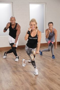 Box away your stress while burning serious calories with this at-home video workout. We use light, light weights to work the arms a bit more, but you can do this workout without weights and still reap the benefits. It's 30-minutes of sweaty fun.