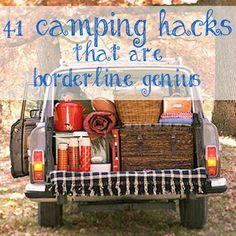 "These just turned ""car camping"" into Van/Box-Truck camping, but, hey if you've got the space, these are pretty solid ideas. :: 41 Camping Hacks That Are Borderline Genius"