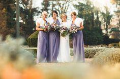 the bridal party at winter wedding  by Tobiah Tayo Photography