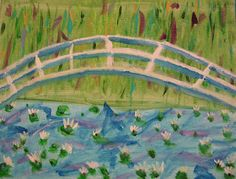 Monet Waterlilies Bridge....I LOVE MONET!!!  This will be so fun :)
