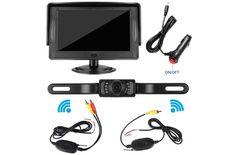 Backup Camera and Monitor Kit,Waterproof Night Vision Rear View Camera Single 5 inch HD Back Up Camera for Car//RV//Truck//Pickup//Van//Camper Accfly