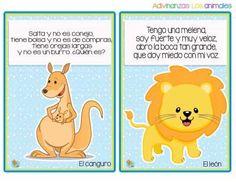 Divertidas adivinanzas de animales - Imagenes Educativas Math For Kids, Exercise For Kids, Jungle Animals, Riddles, Preschool Activities, Winnie The Pooh, Teaching, Education, Comics