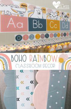 Elementary Classroom Themes, Kindergarten Classroom Decor, Classroom Decor Themes, Classroom Walls, Primary Classroom, Classroom Design, Preschool Decorations, Classroom Ideas, Classroom Board