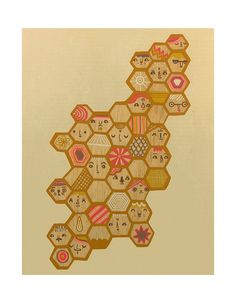 Honeycomb Limited Edition Print 8x10 on Etsy, $20.00