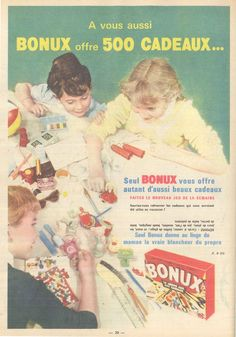 Bonux, la lessive aux 500 cadeaux - Lisette, 24 septembre 1961