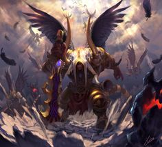 Doom Angel, Yuxuan Lee on ArtStation at https://www.artstation.com/artwork/rOV3a