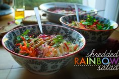 SHREDDED RAINBOW SALAD // shutterbean. das good.