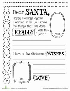 A letter to mom cute printable template for kids to write a christmas the holiday season first grade handwriting holiday worksheets letter to santa template spiritdancerdesigns Images