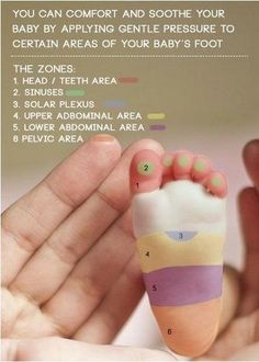 Relieve discomfort in your baby by massaging their feet