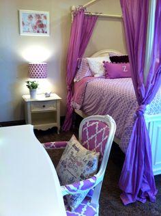 Walker Purple Bedroom--sophisticated teen girl room