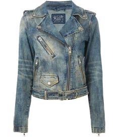 Farfetch - DIESEL denim biker jacket