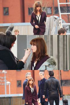 Jenna Coleman & Peter Capaldi on set - Doctor Who series 8 - March 18th, 2014