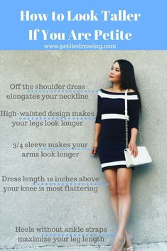 6 Best Fashion Tips on How to Look Taller - Jeans For Petite Women - Ideas of Jeans For Petite Women - Petite fashion and petite styling tips to make your proportion look better and legs look longer and make short girls look taller. Short Girl Fashion, Fashion For Petite Women, Petite Fashion Tips, Petite Outfits, Petite Dresses, Fashion Tips For Women, Mode Outfits, Fashion Advice, Fashion Websites