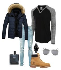 """If I were a boy"" by martinehjelvik on Polyvore featuring LE3NO, AMIRI, Timberland, Rado, Yves Saint Laurent, Chanel, men's fashion and menswear"
