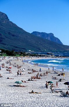 "Camps Bay beach in Cape Town, South Africa ~ ""our"" beach whilst there visiting my friends! :))"