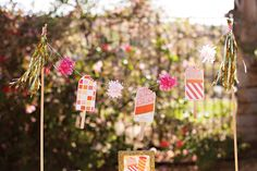 // Hostess with the Mostess® Cute & Crafty Summer Popsicle Birthday Party! // Hostess with the Mostess® Glitter Birthday Parties, Cake Frame, Popsicle Party, Cake Centerpieces, Cupcake Mix, Party Flags, Colorful Party, Party Entertainment, Baby Birthday