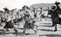 Highland Light Infantry on the march in the Boer War, (The Battle of Magersfontein, 11 Dec World History, World War, British Army Uniform, The Argyle, Scottish Clans, Military History, Military Art, African History, British History