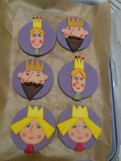 Ben and Holly's Little Kingdom cupcake toppers - Princess Holly, King and Queen Thistle