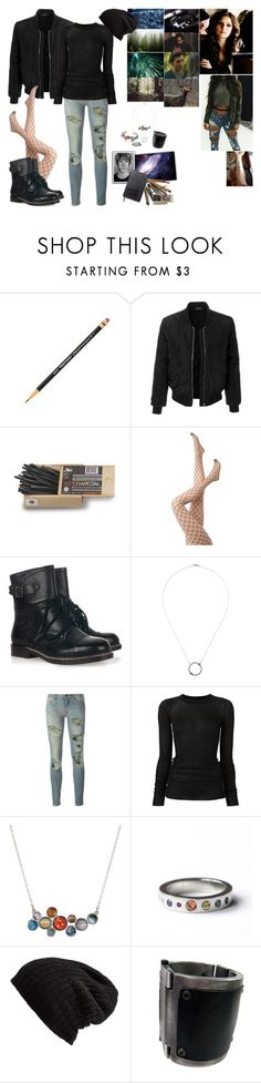 """""""The 100"""" by mermaidprincezz ❤ liked on Polyvore featuring LE3NO, See by Chloé, Pamela Love, Off-White, Rick Owens, Moleskine and Free People"""