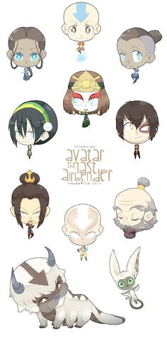 Avatar: The Last Airbender sticker set