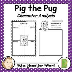 Pig the Pug Character Analysis Teaching Activities, Teaching Kindergarten, Teaching Resources, Narrative Writing, Writing A Book, Book Week, Book Of The Week, Character Traits Activities, Picture Story Books