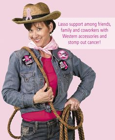 Pink Ribbon Cowgirl Costume Idea | This fun and easy pink ribbon costume makes the perfect outfit for fundraisers, relay events, pink ribbon marathons and more. #pinkribbon