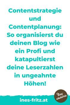 Die Content-Strategie für deinen Blog unterscheidet dich von Hobbybloggern und bringt deinen Blog aufs nächste Level: mehr Leser erreichen, mehr Einnahmen mit deinem Blog erzielen und endlich produktiv und professionell bloggen! Die besten Tipps für die Erstellung und Umsetzung!   #blogstrategie #contentplan #redaktionsplan #toolsblogger #tippsblogger #professionellbloggen #mitbloggengeldverdienen #blogbusiness #besserbloggen #bloggenlernen #erfolgreichbloggen Content Marketing, Affiliate Marketing, Office Organisation, Business Inspiration, Seo, Web Design, Words, Videos, Passive Income