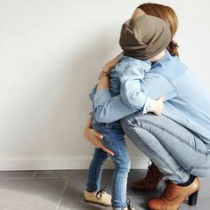 "ontwolanesof-freedom: "" BabieKins #denim #mother #child """