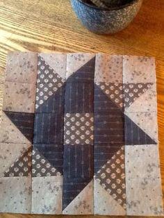 Whirligig Pinwheel quilt block by evangelina