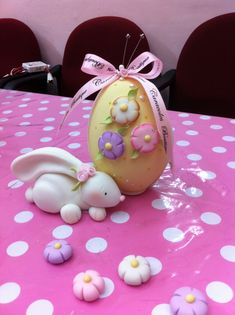Pasta Flexible, Clay Animals, Easter Wreaths, Cold Porcelain, Fondant, Creme Eggs, Polymer Clay, Rabbits, Cake
