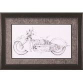 Found it at Wayfair - Motorcycle Sketch II by Megan Meagher Framed Painting Print