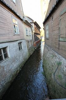 Kuldiga is small mediaval town in Kurzeme,  with its narrow streets, old houses, unique brick bridge over the Venta River and Europe's widest waterfall, the Venta Rapids,