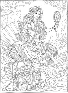 Welcome to Dover Publications Mermaid Coloring Book, Fairy Coloring Pages, Printable Adult Coloring Pages, Mandala Coloring Pages, Christmas Coloring Pages, Coloring Pages For Kids, Coloring Sheets, Free Coloring, Kids Coloring