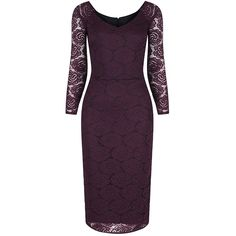 Long Sleeve Wine Red Lace Wiggle Pencil Dress