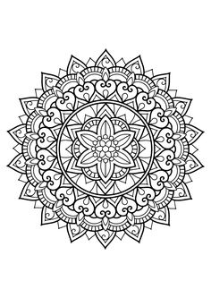 Difficult Mandala Coloring Pages. 30 Difficult Mandala Coloring Pages. Really Hard Mandala Coloring Pages Food Ideas Adult Coloring Pages, Cat Coloring Page, Mandala Coloring Pages, Free Printable Coloring Pages, Coloring Books, Colouring Pages For Adults, Colouring Sheets, Mandala Art, Mandalas Painting