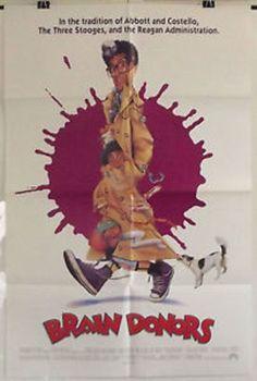 BRAIN DONORS - JOHN TURTURRO / MEL SMITH - ORIGINAL AMERICAN 1SHT MOVIE POSTER