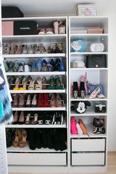Ikea pax schuhe  Mein begehbarer Kleiderschrank | Dressing room, Minimal decor and ...