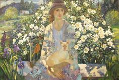 ⊰ Posing with Posies ⊱ paintings of women and flowers - Olga Suvorova