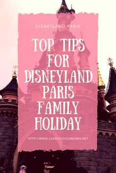 Disneyland Paris Family Holiday Travel Tips for Families
