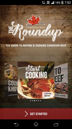 The Roundup App - Get cooking Canadian beef with inspiration on what to cook, how to cook and how to buy beef! Beef Cuts Chart, Learn Earn, Food Handling, Cooking Instructions, The Make, Cooking Videos, What To Cook, Safe Food, Nutrition